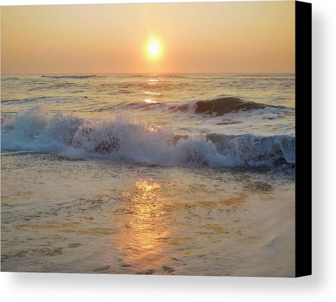 Mark Lemmon Cape Hatteras Nc The Outer Banks Photographer Subjects From Sunrise Canvas Print featuring the photograph Hatteras Sunrise 9 8/6 by Mark Lemmon