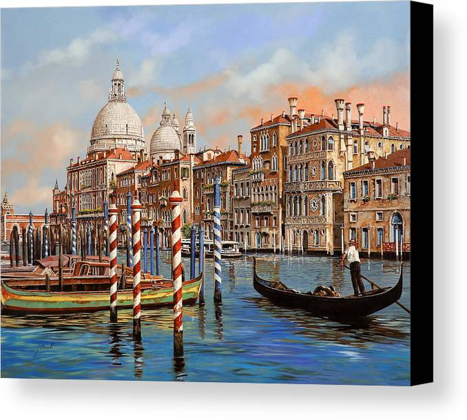 Venice Canvas Print featuring the painting Il Canal Grande by Guido Borelli