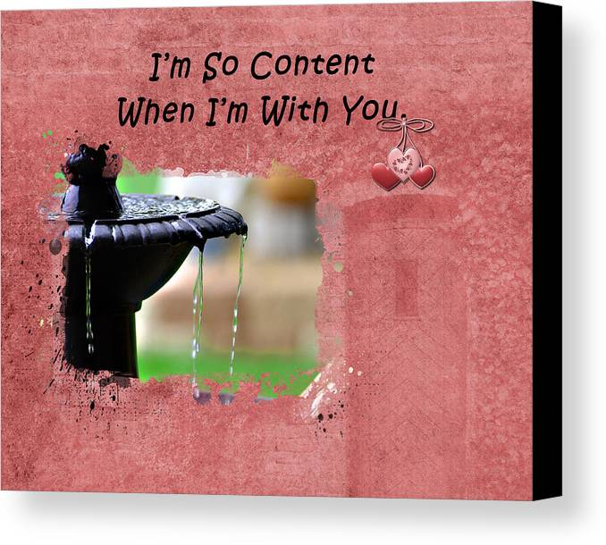 Card Canvas Print featuring the photograph I'm So Content by Linda Cox