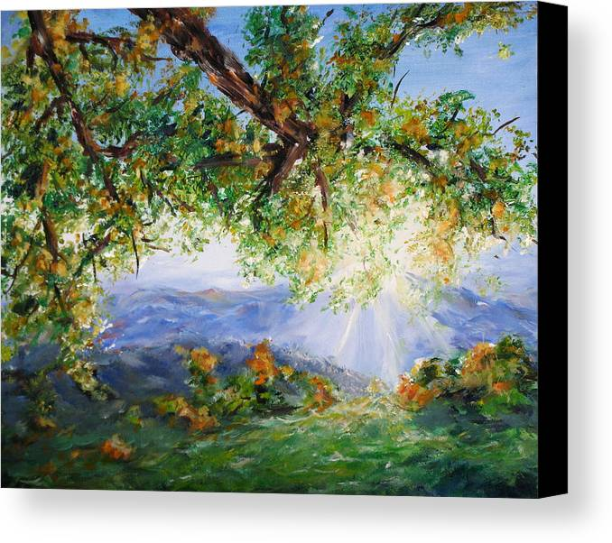 Landscape Canvas Print featuring the painting Indian Summer by Thomas Restifo