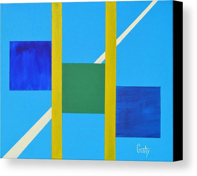 Abstract Canvas Print featuring the painting Intersection by Eric Gunty