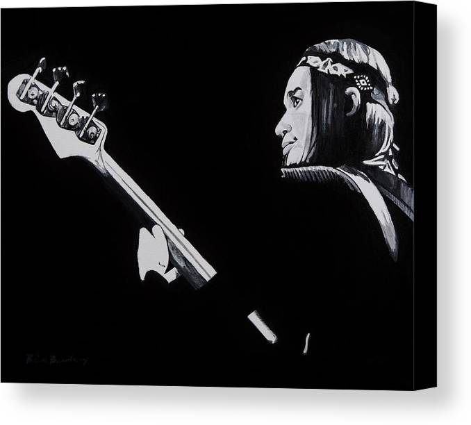 Jaco Canvas Print featuring the painting Jaco by Brian Broadway