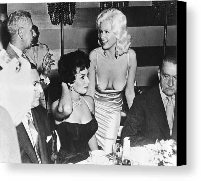 Jayne Mansfield Sophia Loren Canvas Print Canvas Art By