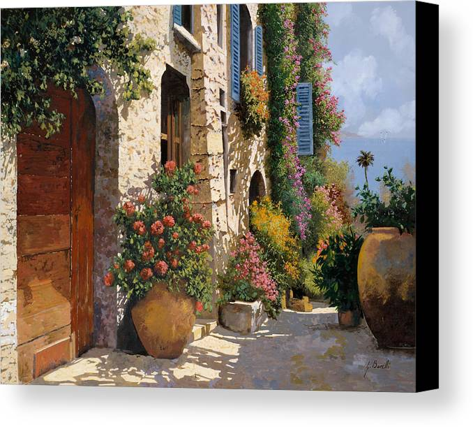 Street Scene Canvas Print featuring the painting La Bella Strada by Guido Borelli