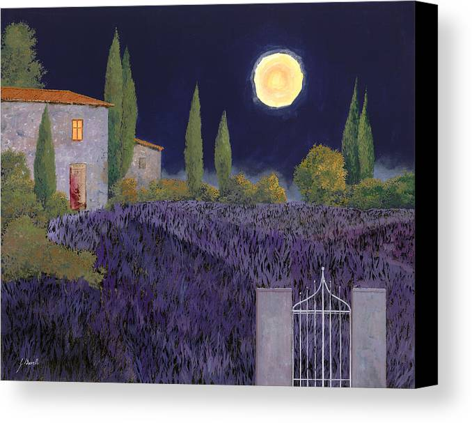 Tuscany Canvas Print featuring the painting Lavanda Di Notte by Guido Borelli