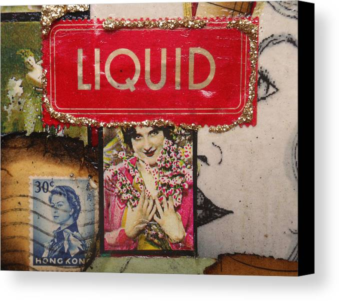 Drawing Canvas Print featuring the photograph Liquid by Sherry Dooley