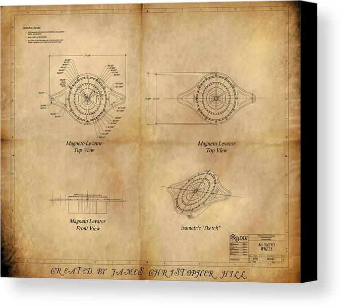 Magneto system blueprint canvas print canvas art by james magneto system blueprint canvas print canvas art by james christopher hill malvernweather Gallery