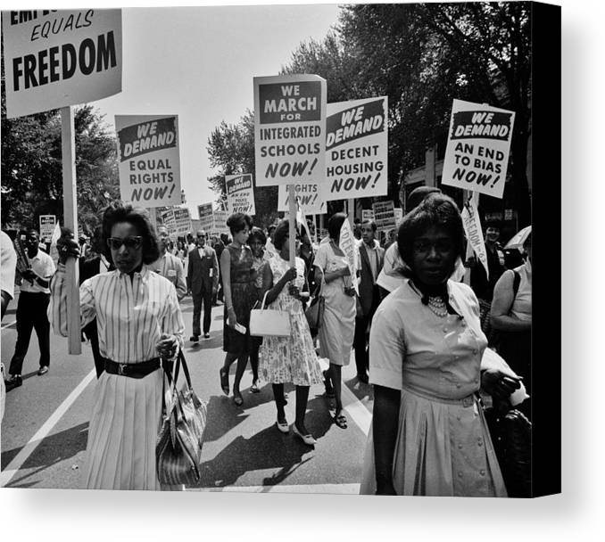 Civil Rights Canvas Print featuring the photograph March For Equality by Benjamin Yeager