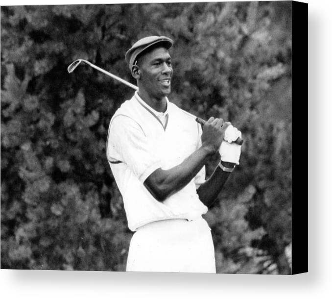 Classic Canvas Print featuring the photograph Michael Jordan Playing Golf by Retro Images Archive