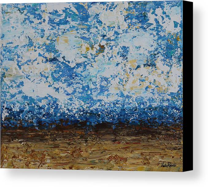 Abstract Canvas Print featuring the painting Ocean View by Molly Roberts