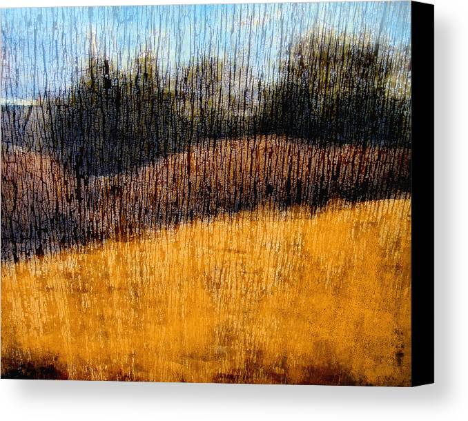 Landscape Canvas Print featuring the photograph Oklahoma Prairie Landscape by Ann Powell