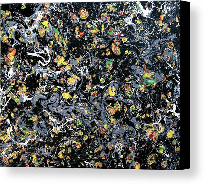 Acrylic Canvas Print featuring the painting Paint Number Eleven by Ric Bascobert