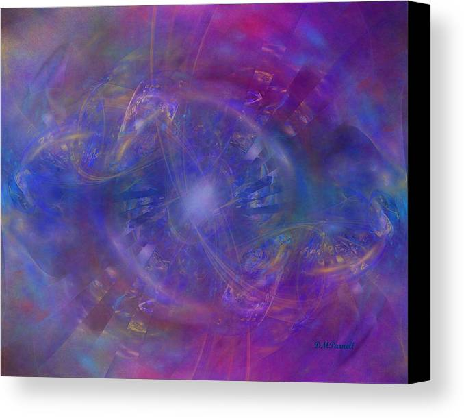Space Canvas Print featuring the digital art Plasma Drive Ignition by Diane Parnell
