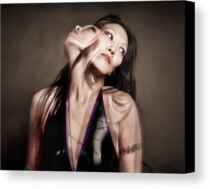 Artistic Portraiture Canvas Print featuring the photograph Ree Ja Soul by Gary Heller
