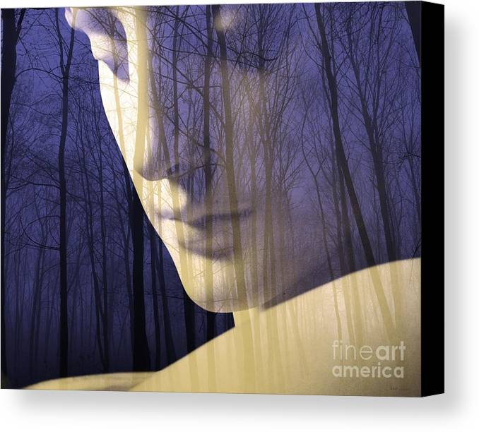 Reflection Canvas Print featuring the digital art Reflection / The Philosophy Of Mind by Elizabeth McTaggart