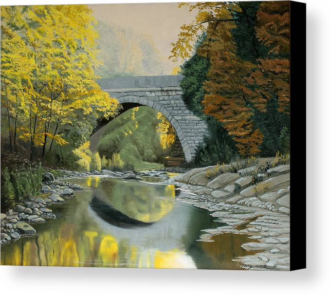 Autumn Canvas Print featuring the painting Reflections by Kenneth Young