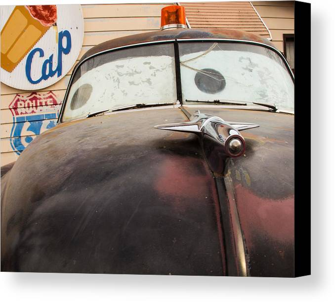 Car Canvas Print featuring the photograph Route 66 Cars by Danielle and Peter Jacobsen