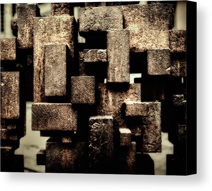 London Canvas Print featuring the photograph Rusty Art by Joan Carroll