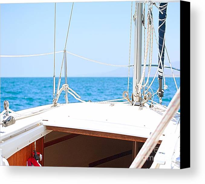 Sailboat Canvas Print featuring the photograph Sailing On A Fine Sunny Day by Artist and Photographer Laura Wrede