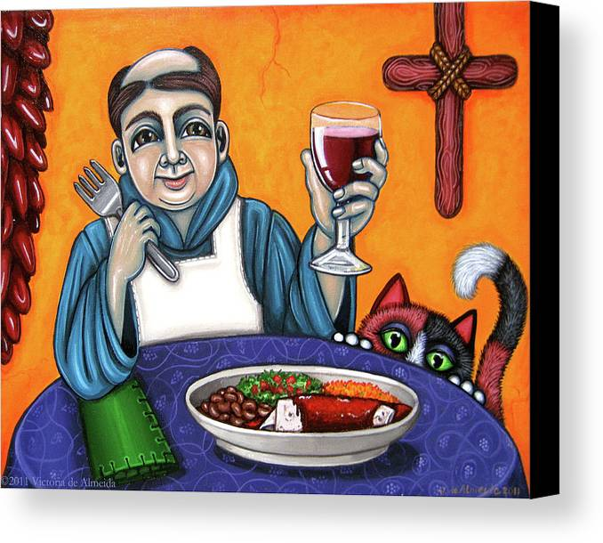 San Pascual Canvas Print featuring the painting San Pascual Cheers by Victoria De Almeida