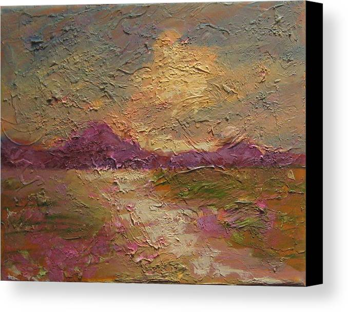 Landscape Canvas Print featuring the painting Skyscape I by Edy Ottesen