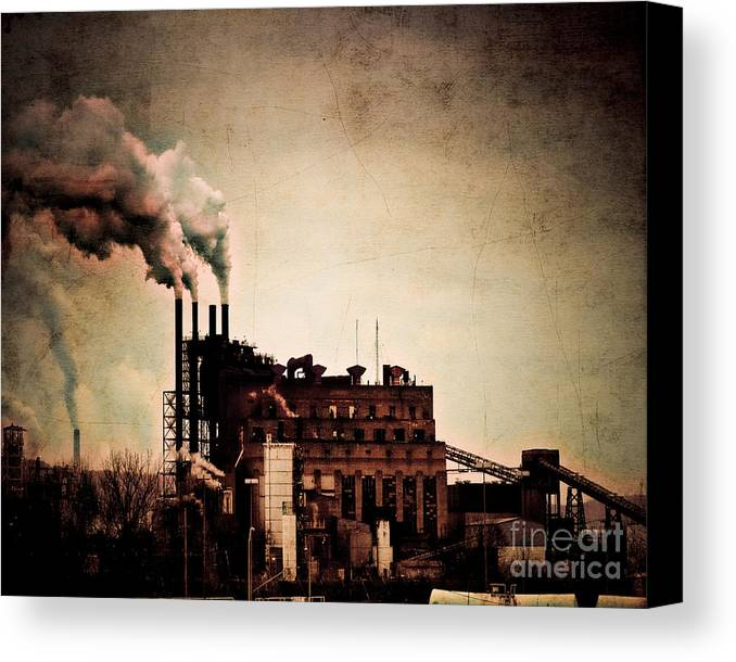 Arne J Hansen Canvas Print featuring the photograph Smelter by Arne Hansen