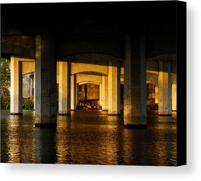 South First Street Bridge Canvas Print featuring the photograph South 1st St. Bridge by James Granberry