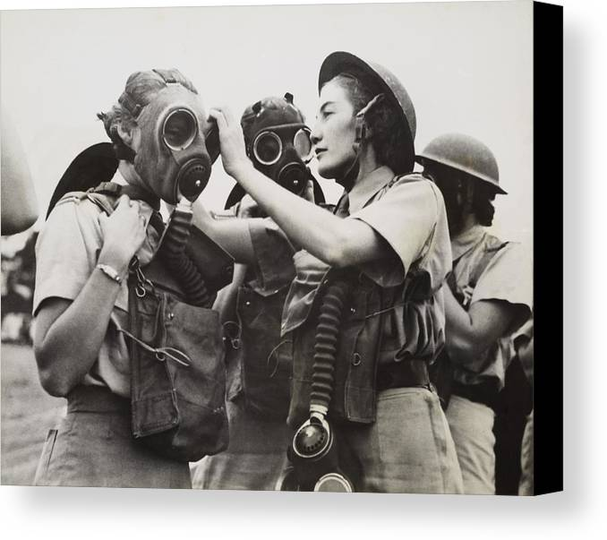 History Canvas Print featuring the photograph South African Womens Auxiliary Services by Everett