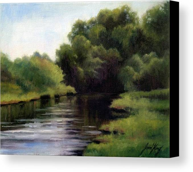 Swan Creek In Hickman County Canvas Print featuring the painting Swan Creek by Janet King