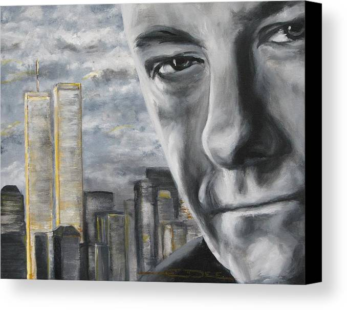 Soprano Canvas Print featuring the painting T And The Wtc by Eric Dee