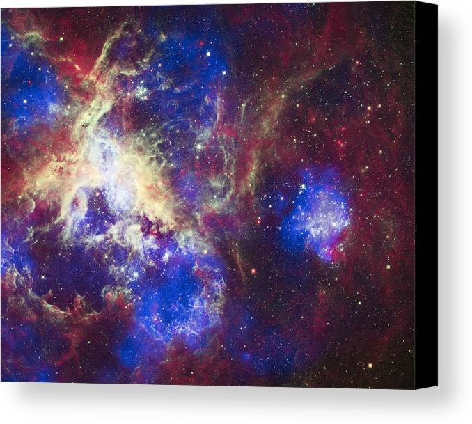3scape Canvas Print featuring the photograph Tarantula Nebula by Adam Romanowicz