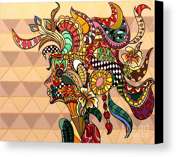 Acrylic Canvas Print featuring the painting The Chameleon - L by Doddo Day