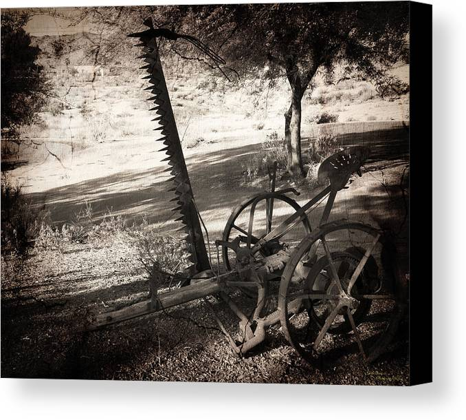Landscape Canvas Print featuring the photograph The Harvester by Dale Simmons