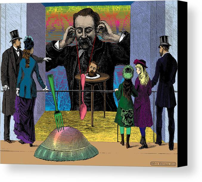 Digital Collage Canvas Print featuring the digital art The Moveable Feast by Eric Edelman