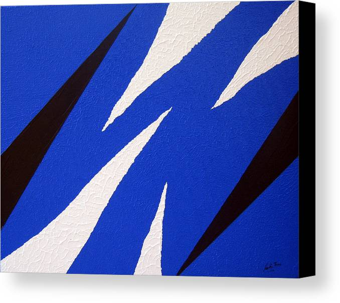 Abstract Canvas Print featuring the painting Torn by Pauline Thomas