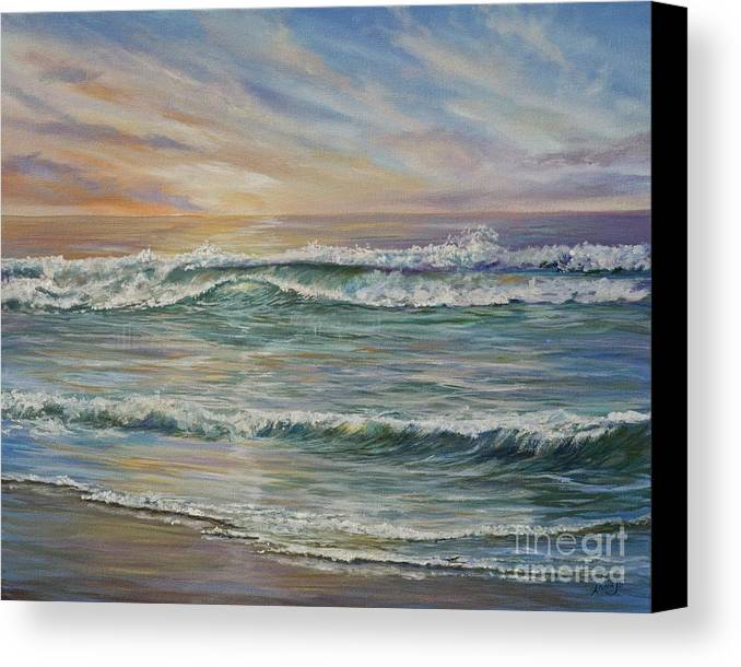 Clouds Canvas Print featuring the painting Tranquility by AnnaJo Vahle