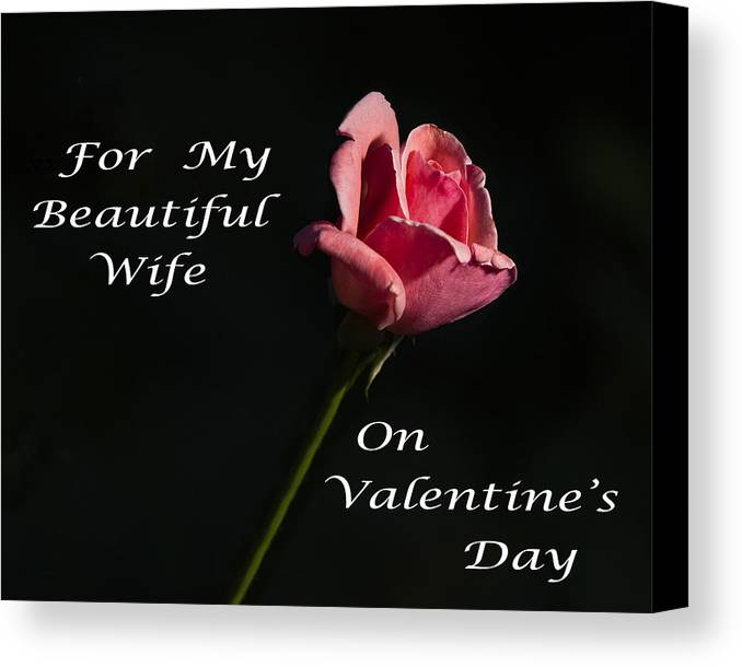 Greeting Card Canvas Print featuring the photograph Valentine's Day Wife by Todd M Bloomer