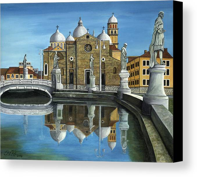 Landscape Canvas Print featuring the painting Veneto by SheRok Williams