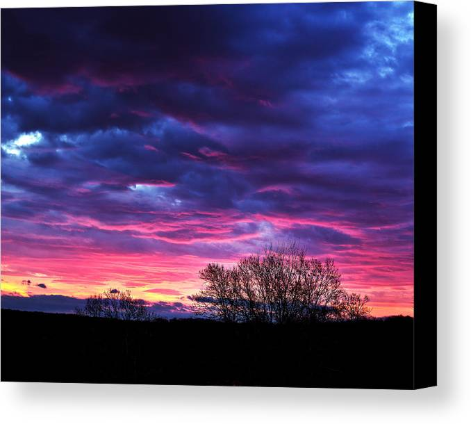 Tim Buisman Canvas Print featuring the photograph Vibrant Sunrise by Tim Buisman