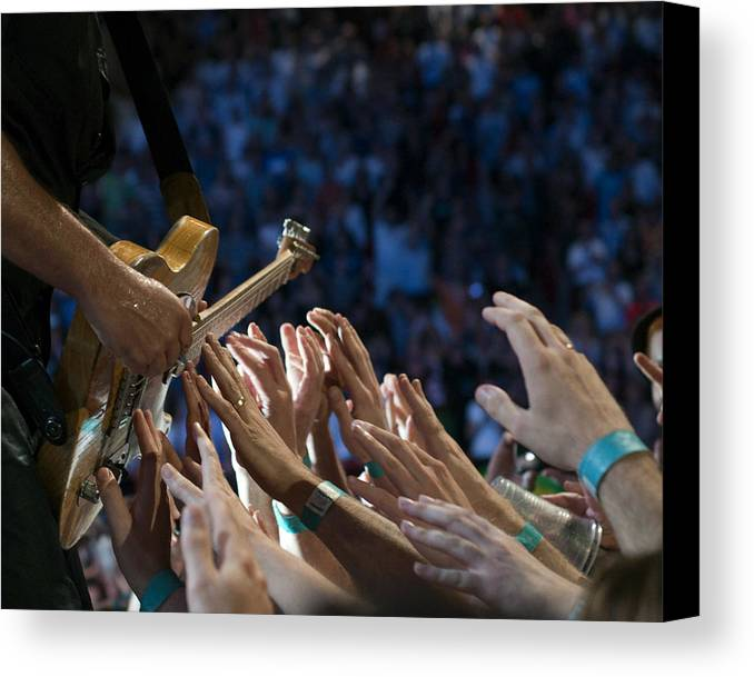 Springsteen Canvas Print featuring the photograph With These Hands by Jeff Ross