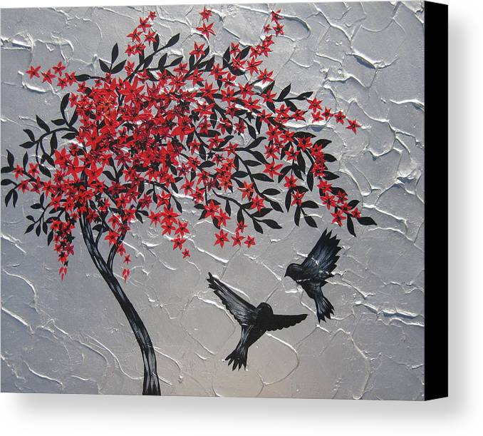 Japanese Canvas Print featuring the painting zen by Cathy Jacobs
