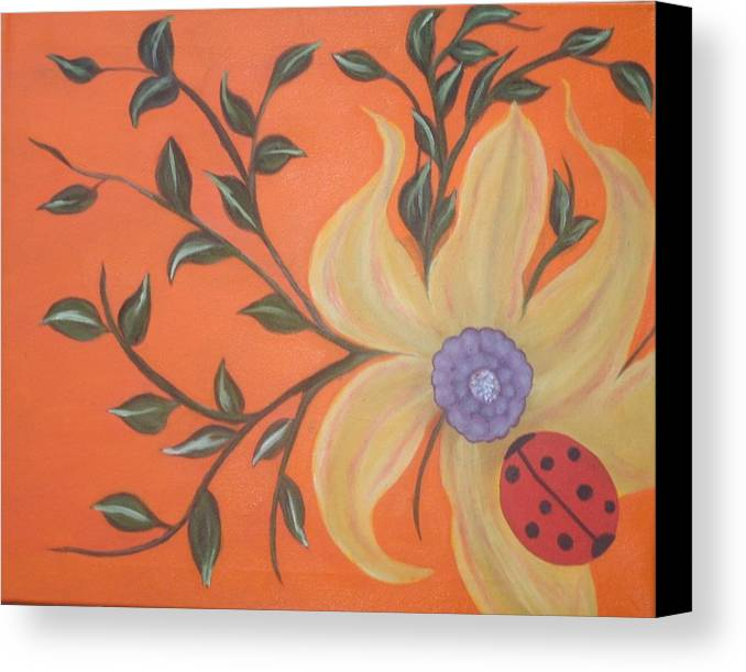 Flower Canvas Print featuring the painting Branching Out by MA Hindy