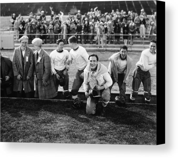 -sports- Canvas Print featuring the photograph Silent Film Still: Sports by Granger