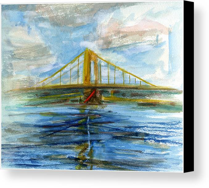 Bridges Canvas Print featuring the painting Rcnpaintings.com by Chris N Rohrbach