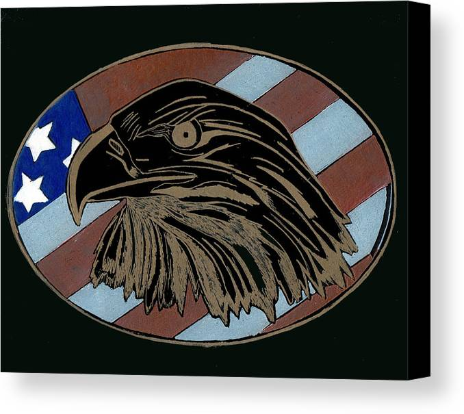 American Canvas Print featuring the glass art American Independence Day by Jim Ross