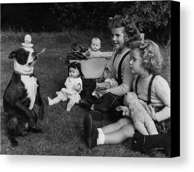 Child Canvas Print featuring the photograph Balanced Breakfast by Fred Morley