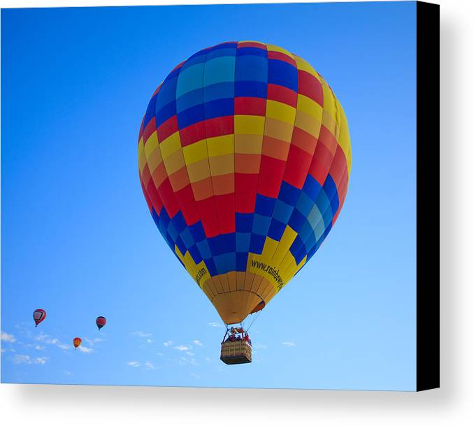 Hot Canvas Print featuring the photograph Balloon Fiesta by Michael Clubb