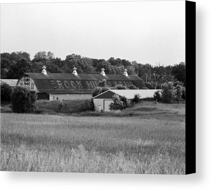 19th Century Farming Canvas Print featuring the photograph Brook Hill Dairy Farm by Jan W Faul