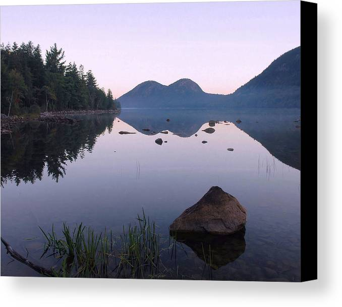 Maine Canvas Print featuring the photograph Dawn Reflections by Stephen Vecchiotti