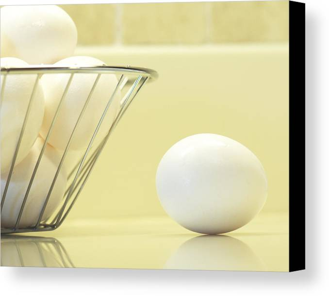 Eggs Canvas Print featuring the photograph Eggs In My Kitchen by Betty Eich